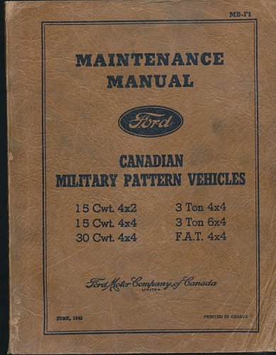 Sold: Ford CMP Maintenance Manual MB-F1 - MLU FORUM